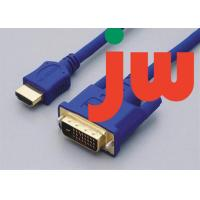 Quality Blue 1080p 3d High Speed Vga Hdmi Cable Samsung Molded , PVC And Copper Material for sale