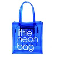 Eco Friendly Jelly Handbags Candy Color , Transparent PVC Clear Beach Tote Bag Manufactures