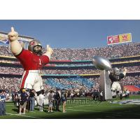 Standing Inflatable Cartoon Characters , Sport Colorful Giant Inflatable Replica Manufactures