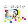 Educational Shape Sorting Matching Baby Blocks Toys Car Set 9Pcs PP Plastic for sale