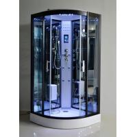 Quality Black Glass Steam Shower Bath Cabin 1000 * 1000 With Computer Control for sale