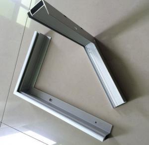 Customeized Aluminum Frames For Solar Panels , Oxidation Aluminum Extrusion Profiles Manufactures
