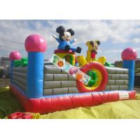 Lovely Mickey Kids Inflatable Amusement Park For Jumping Fun 0.45mm - 0.55mm PVC Manufactures