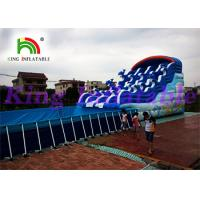 China Giant Outdoor Inflatable Water Parks With Slide And Pool For Amusing on sale