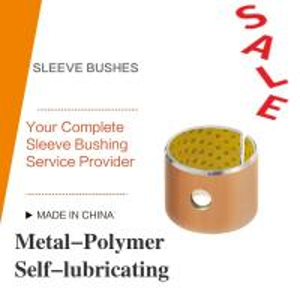 Acetal Resin Liner Metal-Polymer Self Lubricating Sleeve Bushing Thin Wall Burnishing Boring Turning Reaming Assemby