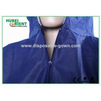 Blue Breathable Disposable Tyvek Coveralls for Lab Room or Hospitals Manufactures