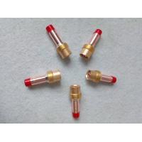 Tig Torch Gas Lens Collet Body Welding Machine Spare Parts , Copper Tig Consumables Manufactures
