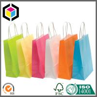 Fancy Color Print Promotion Paper Bag; Twisted Paper Handle Paper Shopping Bag Manufactures