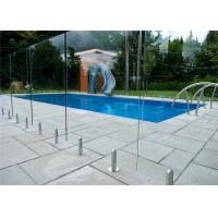 Mirror / Satin Finish Swimming Pool Glass Fence Stainless Steel Spigot Railing Manufactures