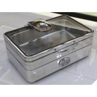 Electric Rectangular Chafer Stainless Steel Cookwares Digital - display Temperature 1/1 GN Food Pan Mirror Finish Manufactures