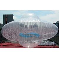 Transparent UFO Custom Advertising Balloons , Digital Printing Sky Advertising Balloons Manufactures