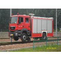 2 Seats Fire Fighting Truck Elkhart Monitor Road - Rail Convertible Vehicle Manufactures