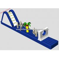3mH Inflatable Water Games With Slide , Inflatable Water Obstacle For Pool Manufactures