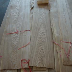Quality Sliced Cut Natural Veneer Paper Backed , Brown Ash Wood Veneer for sale
