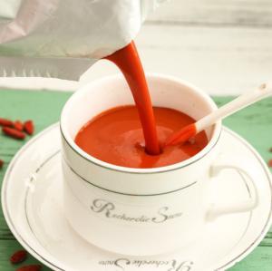 China Fresh goji juice beverage fresh goji berry made Nutritive Goji Raw Juice concentrate on sale