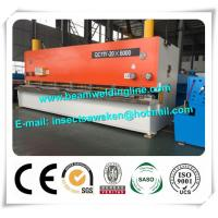 Steel Plate E21S NC Hydraulic Swing Beam Shear Hydraulic Guillotine Shearing Machine Manufactures