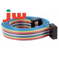 16 Way IDC Rainbow 16 Pin Flat Ribbon Cable PVC And Tin Wire Material Manufactures