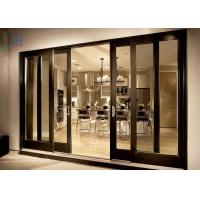 Quality Heat Insulation Triple Panel Sliding Glass Door Anti Theft Easy Install / Clean for sale