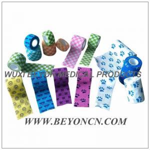 Printed Cohesive Flexible Bandage Bitter Taste Vet Wrap, Flexible Fabric Bandages Manufactures