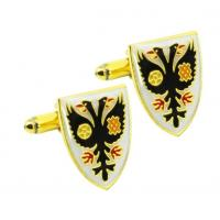 Whole Selling New design Gold Plating metal mens wedding custom cuff link Manufactures