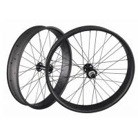 Matte / Glossy 26 Inch Fat Bike Wheels Three Spoke Toray 700 100MM Width Manufactures