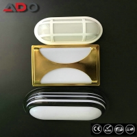 led wall light 15w Square Round Oval waterproof exterior bulkhead lights Manufactures