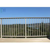 Finished Surface Aluminium Balustrade / Fixed Outdoor Stair Railing Manufactures