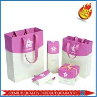 Matte Color Custom Print Paper Shopping Bag Cosmetics Package with Satin Handle Manufactures