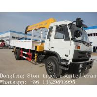 2017 best price Dongfeng 4*2 190hp 6.3ton truck mounted crane for sale, hot sale dongfeng 6.3tons truck with crane Manufactures
