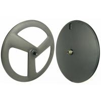 Quality Carbon Clincher Disc Wheel , 120 Psi Carbon Disc Road Wheels 3 Spoke for sale