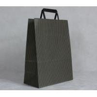 Quality Customized Exquisite Kraft Paper Carrier Bag Printing with Flat Handle and Logo for sale