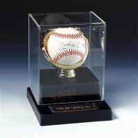 SGS Baseball Acrylic Display Stand Case / Sport Acrylic Advertising Display Manufactures