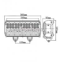 144 Watt 12 Inch Quad-Row LED Light Bar for 4WD Vehicles Manufactures