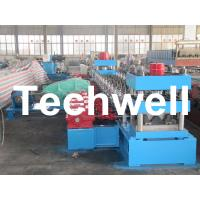 30KW, 3 Phase 50Hz 2 Wave Beam Roll Forming Machine With 10 - 12m/min Working Speed Manufactures