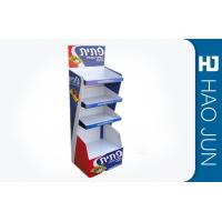 Recyclable Printed Cardboard Display Stands For Snacks , Easy Assembly