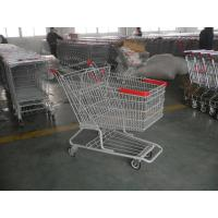 Singel Basket Supermarket Shopping Cart With Low Rack Welded Manufactures