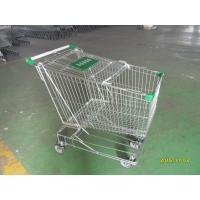 Quality Asian Style 180 Liter Steel Wire Shopping Trolley With Handle Logo for sale