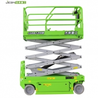 Green color 8m electric man lift with 450KG capacity for maintenance Manufactures
