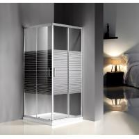 Quality Grey Silk Painted Glass Shower Enclosures 900 X 900 For Model Rooms / Supermarke for sale