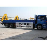 Transporting Materials Lorry Mounted Crane , 11 Meters Lifting Height Boom Truck Crane Manufactures