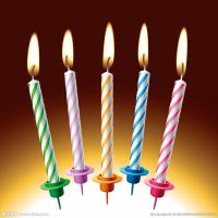 China bulk wholesale spiral happy birthday cake stick candle with oem service on sale
