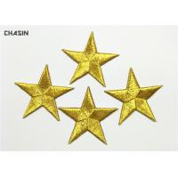 China Mini Garment Embroidery Patches Gold Stars Iron On Children'S Clothing on sale