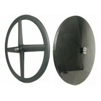 Quality Matte / Glossy Carbon Rear Disc Wheel , Road Disc Wheelset 4 Spoke for sale