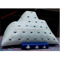 Commercial Floating Inflatable Iceberg Water Toys For Lake , 0.9mm PVC Tarpaulin Manufactures