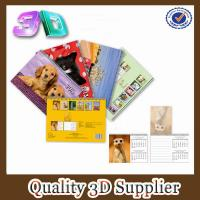 2015 custom spiral binding 3d table calendar with notepad Manufactures