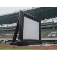 Customizable Airtight Inflatable Movie Screen PVC Tarpaulin 4 * 4m With Blower Manufactures