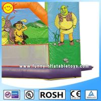 Fashion Air Tight Inflatable Barrier Cartoon Shrek Inflatable Obstacle Course For Kids Manufactures