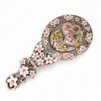 Metal Alloy Brooch, Decorated, Available in Various Sizes and Colors, Ideal for Cosmetic Manufactures