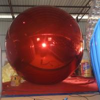 4 M Red Inflatable MIirror Balloon / Inflatable Decorative Ball For Exhibition Or Show Manufactures