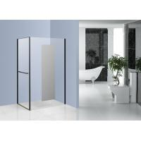 Quality Chrome Side Pivot Open Corner Entry Shower Enclosures 1200 x 800 with Mirror Glass for sale
